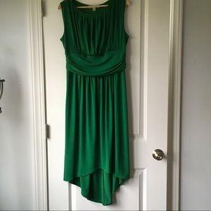 AA Studio Emerald Green Hi-Lo Dress